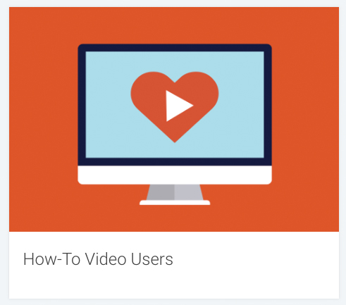 "Symbol graphics of the ""How-to-Video Users"" target group"