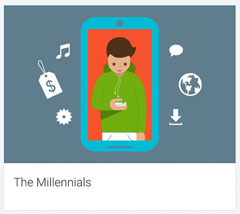Symolgrafik of the target group Millennials