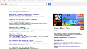 Google Easter Egg Super Mario