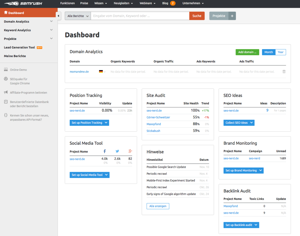SEMRush - simple and effective